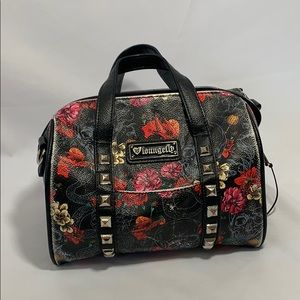 Loungefly skull and flower handbag/purse